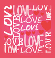 Romantic love design vector image