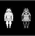 samurai japan warrior icon set white color flat vector image