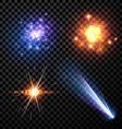 Stars set background vector image