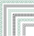 Decorative seamless ornamental border with corner vector image vector image