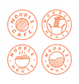 Noodle cafe logotypes vector image