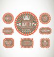 Vintage label Style with eight Design Element vector image