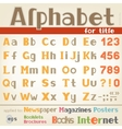 Alphabet for title vector image