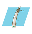 Windy Lighthouse vector image vector image