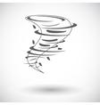 Tornado icon vector image