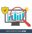 Icon concept data protection vector image