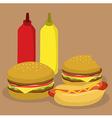 Fast Food Burger and Hotdog vector image