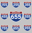 INTERSTATE SIGNS 155-955 vector image