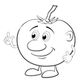 Character tomato outline vector image