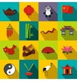 China flat icons vector image