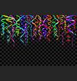 colourful confetti on a black background vector image