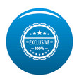 exclusive logo simple style vector image