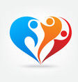 Family love icon vector image