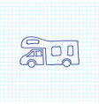 of travel symbol on camper vector image