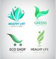 set of eco organic food healthy lifestyle vector image
