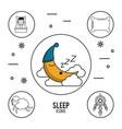 sweet dreams and good sleep infographic vector image