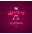 Valentine day lettering photo overlay vector image