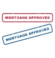 Mortgage Approved Rubber Stamps vector image