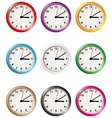 Clock collection vector image