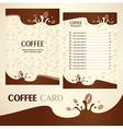 menu coffee card vector image