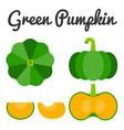 green pumpkin set 1 vector image