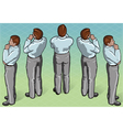 Isometric Thoughtful Standing Man vector image