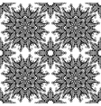 Black and white hand drawn vintage stars seamless vector image vector image