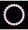 Pink Pearl Necklace vector image