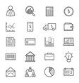 Business and Finance Money Icons Line vector image