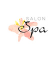 delicate logo design for spa with abstract pink vector image