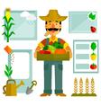 farming elements vector image