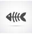 Fishbone trendy icon vector image