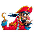 funny pirate character vector image