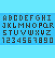 old video game pixel font vector image