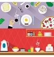 Restaurant Web Banner Templates vector image
