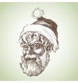Santa Claus sketch portrait vector image