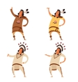 Set of indians vector image