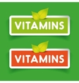Vitamins label set vector image