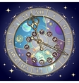 Watch with astrological signs vector image