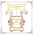 Wedding graphic set Vintage border pack vector image