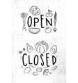 Eco signboard open close vector image vector image