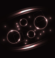 Violet round bubbles with light effects abstract vector image