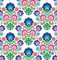 Seamless Polish Slavic folk art floral pattern - vector image vector image