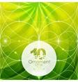 green geometric shiny background vector image