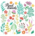 Hand Drawn Floral Elements Set vector image vector image