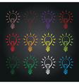Abstract lightbulb vector image