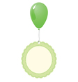 green balloon with vintage tag vector image