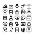 Love and Romance Icons 2 vector image