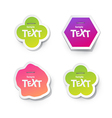 Sticker for text vector image