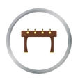 Table football icon in pattern vector image